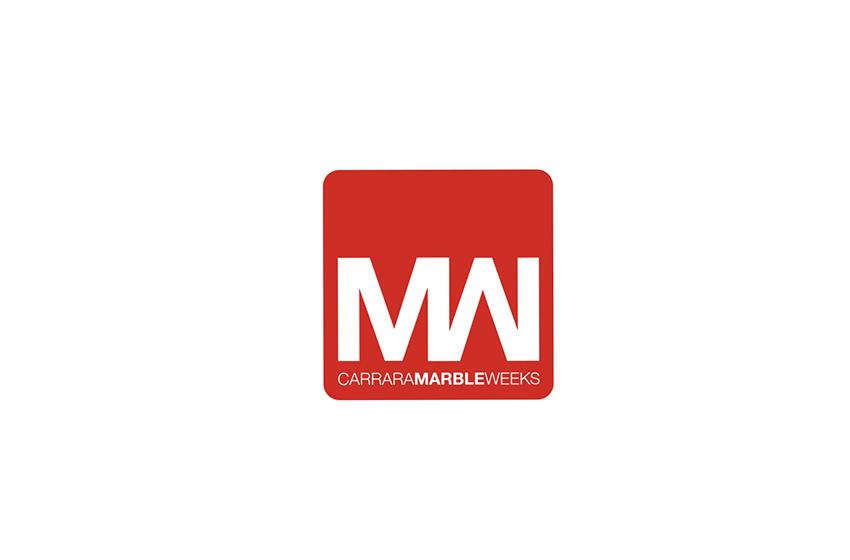 Carrara Marble Weeks. Realizzazione del logo per la nuova manifestazione legata al mondo del marmo, design e architettura.